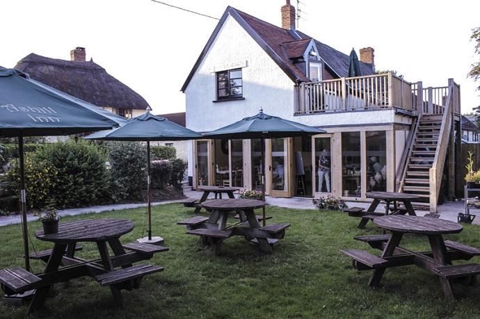 Beer Garden at Ashill Inn