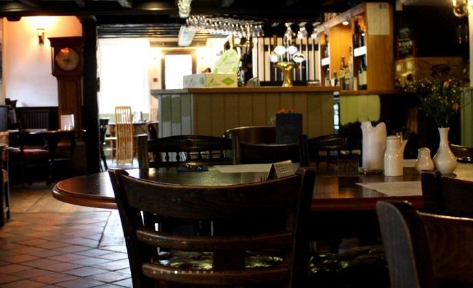 Bar at the Blue Ball Inn