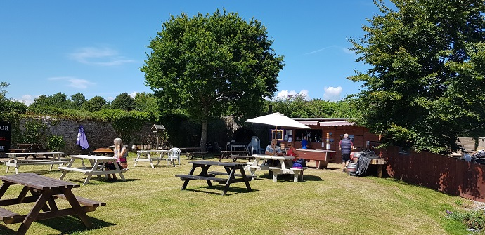 Beer garden at Churston manor