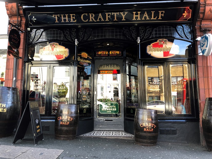 Outside the Crafty Half, Plymouth