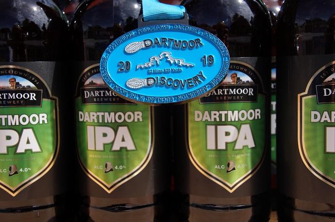 Bottles of Dartmoor IPA for runners