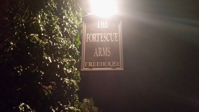 Fortescue Arms sign