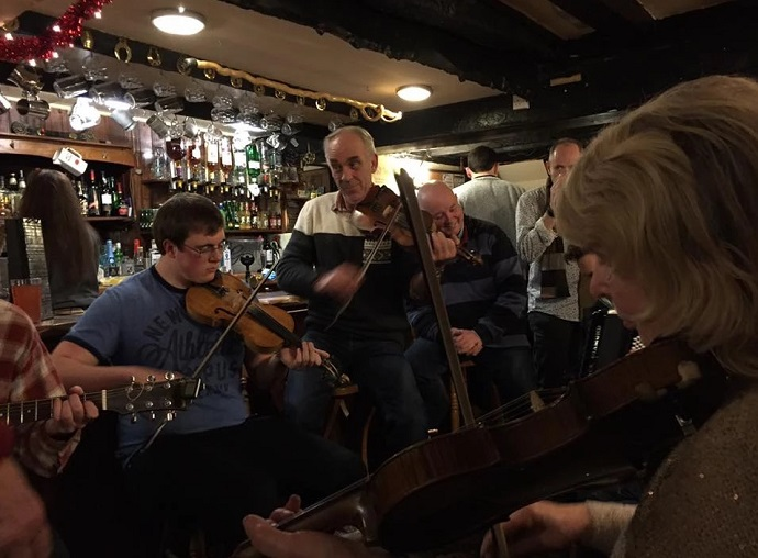 Live music at the Kings Arms, South Zeal