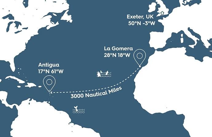 Atlantic Challenge map