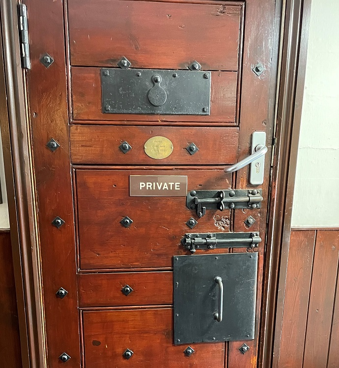 Dartmoor Prison door at the Royal Oak