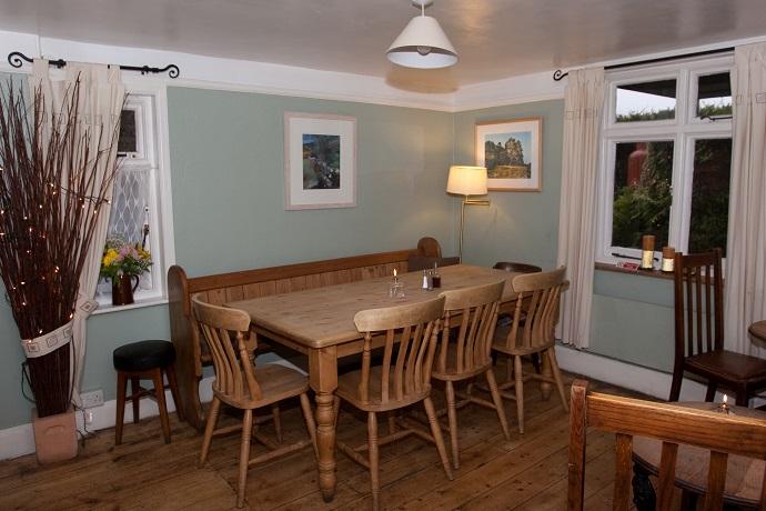 Bar at the rugglestone inn